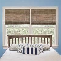 bamboo roman shades homeBASICS Burnout Natural Woven Bamboo Cordless Roman Shade - 48 in. W x 64 in. L-WS-06062-1-48 ...