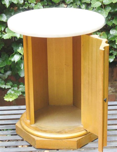 column table l column side table with storage compartment for at 1stdibs