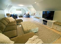 Bonus Room Over Garage Lots Of Room For Family Entertainment How To Decorate Slanted Ceilings Loft Bed Staircases And Designs With Various Functionalities Does This Garage Have A Room Above It How Much To Build