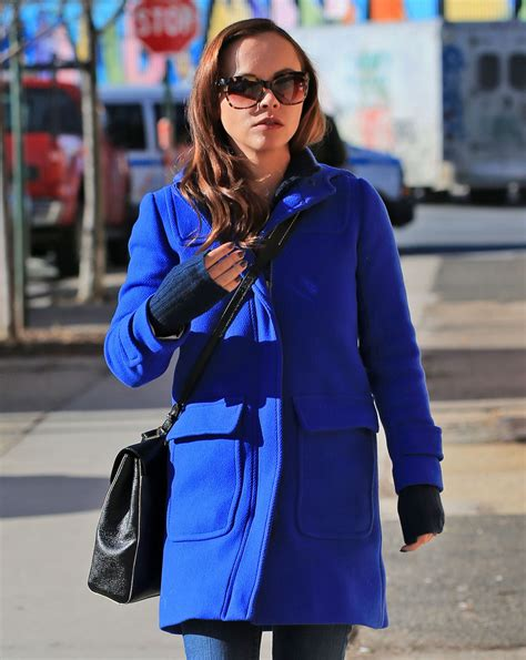 Christina Ricci Street Style - Out in New York City ...