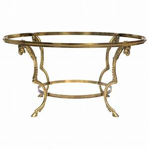 brass ram head coffee table base for sale at 1stdibs With coffee table bases for sale