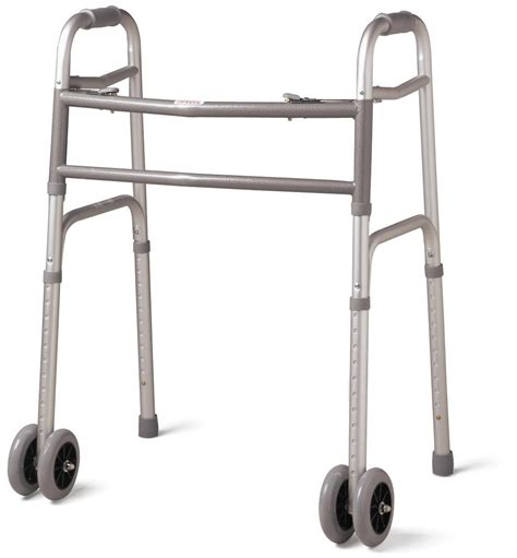 Bed Cane Walmart by Medline Extra Wide Two Button Heavy Duty Wheeled Walker
