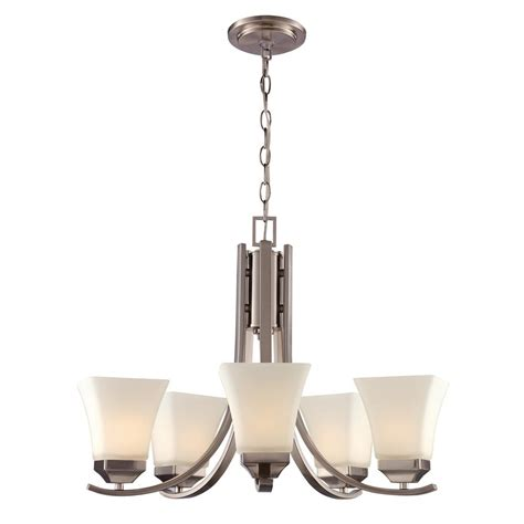 bel air lighting 5 light brushed nickel chandelier with