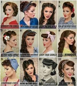 Coiffure Année 50 Pin Up : coiffure femme annee 50 ~ Melissatoandfro.com Idées de Décoration