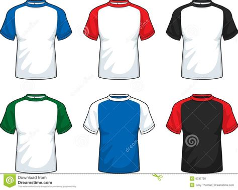 raglan t shirt raglan t shirt stock vector illustration of jersey