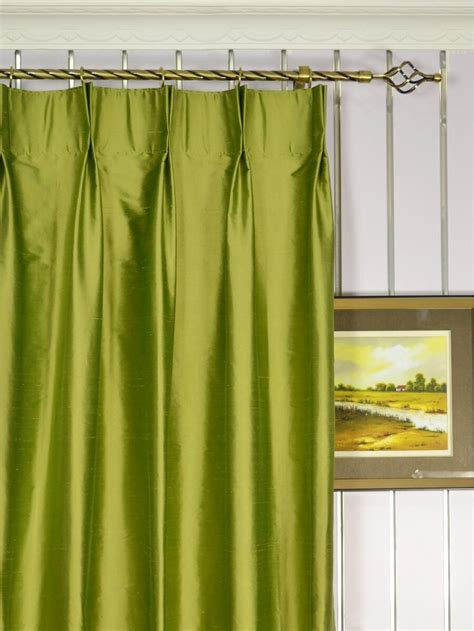 Silk Pinch Pleat Drapes - oasis crisp plain pinch pleat dupioni silk curtains