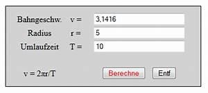 Geschwindigkeit Berechnen Mathe : geschwindigkeit umlaufzeit drehzahl frequenz und radius bei gleichf rmigen kreisbewegungen ~ Themetempest.com Abrechnung