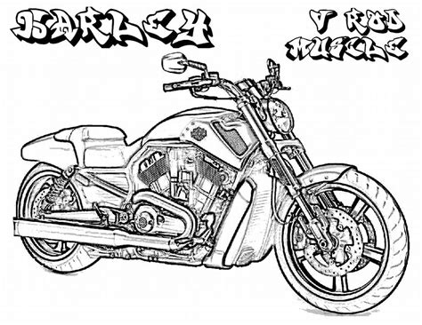 coloring pages for boys to print printable harley