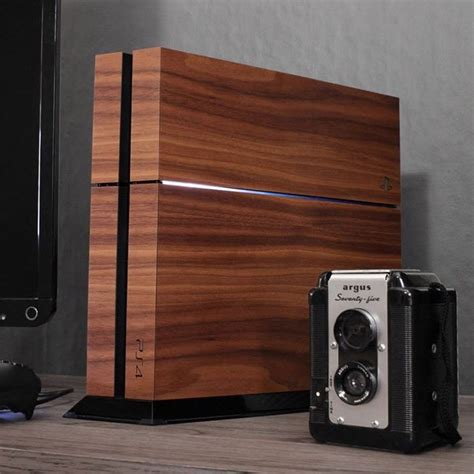 Wooden Cover Playstation 4 Gadget Flow