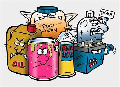 Hazardous Clipart Chemicals Household Waste Cartoon Cartoons