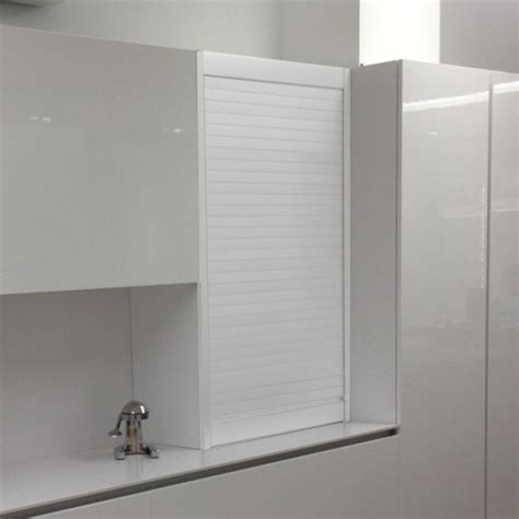 kit  mueble persiana cocina aluminio blanco