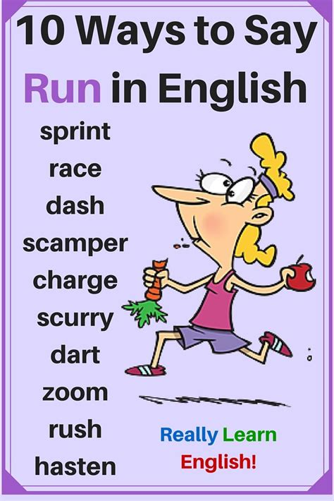 10 Ways To Say Run In English (english Vocabulary) Repinned By Chesapeake College Adult Ed We