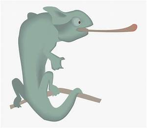 Chameleon With Tongue Out Clip Art At Clker