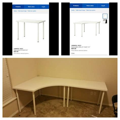 Linnmon Adils Corner Desk And Regular Desk From Ikea