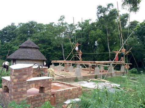 South East Asia Timber Frame in India (roundwood and