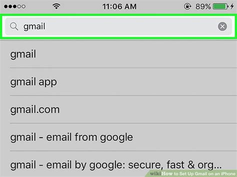 how to setup gmail on iphone how to set up gmail on an iphone with pictures wikihow