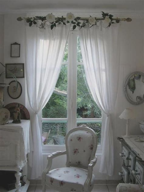 shabby chic curtain rod shabby dream love the window treatment my romantic shabby chic home pinterest curtain