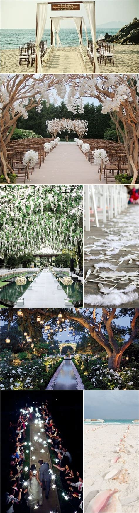 1000 ideas about outdoor wedding aisles on pinterest