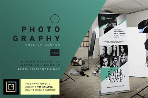 photography roll  banner  flyer templates