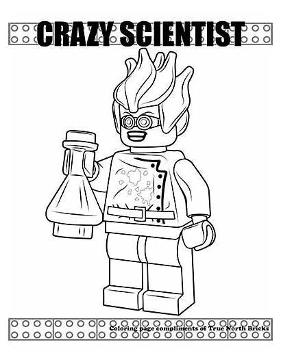 Lego Coloring Colorare Scientist Crazy Hidden Side