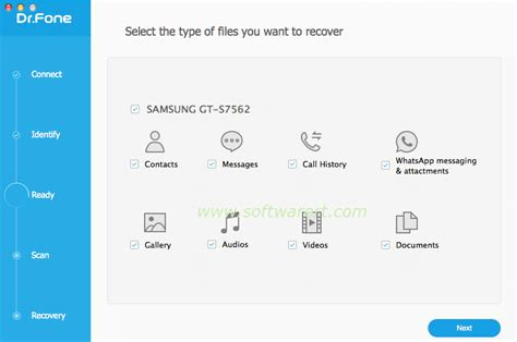 types of android phones select android phone file types to recover