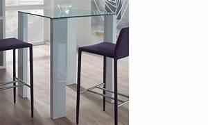Table Haute En Verre : table haute design verre et laqu blanc berta ~ Teatrodelosmanantiales.com Idées de Décoration