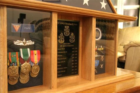 Military Retirement Shadow Box
