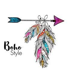 Arrow Feather Boho Silhouette