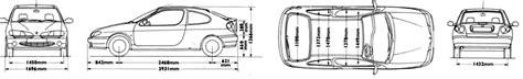2000 renault megane coupe blueprints free outlines