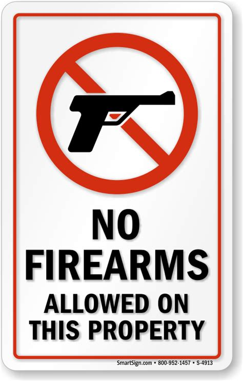 firearms allowed  property sign  weapons signs