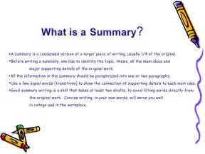 What To Write In A Summary For A Resume by Summary Skills