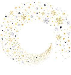 swirl gold  silver snowflakes vector   vector