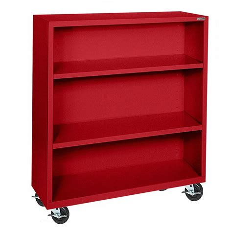 Steel Bookcase by Sandusky Mobile Steel Bookcase Bm20361842 01 The