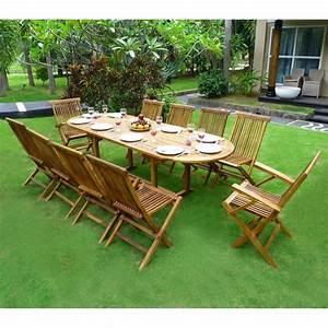 Salon Jardin Teck : salon de jardin en teck pas cher 10 places ~ Melissatoandfro.com Idées de Décoration