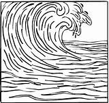 Tsunami Drawing Wave Ocean Waves Coloring Para Colorear Surfing Template Sketch Line Simple Tsunamis Drawings Dibujos Sketchite Crashing Dibujo Clipart sketch template