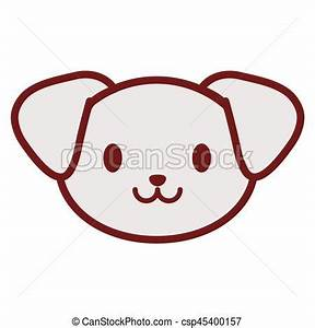 Cute puppy face image vector illustration eps 10 clipart ...