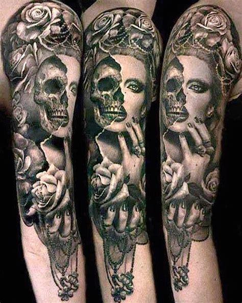 Tattoo half sleeve   Tattoos   Skull sleeve tattoos, Skull ...