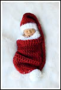 Christmas Stocking Pattern for Crochet Baby Hat
