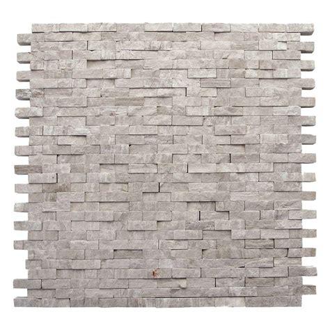 solistone tile home depot solistone haisa marble light split 12 in x 12 in x
