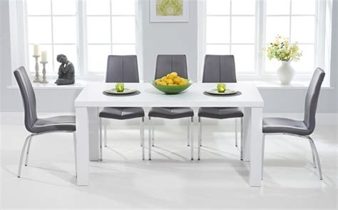 modern grey dining table high gloss dining table sets great furniture trading