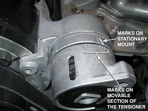 Typical Marks On An Accessory Drive Belt Tensioner
