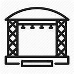 Staging Stage Icon Festival Construction Pngio Estructuras