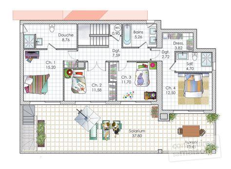chambre pour auvent une maison contemporaine à la mer dé du plan de
