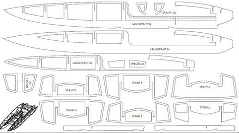 Parts Of A Catamaran Boat by R C Catamaran Boat Parts Blueprint Models