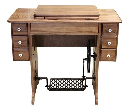 sewing machine cabinet stunning oak reproduction vintage treadle sewing cabinet