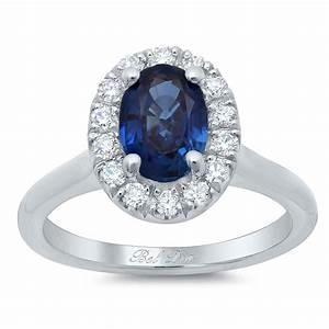 oval sapphire halo engagement ring with plain band With halo ring with plain wedding band