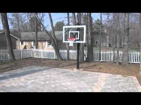 brick paver backyard basketball court youtube