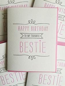 Geburtstagsgeschenke Beste Freundin : birthday card for best friend card best friend birthday card letterpress birthday card for ~ Eleganceandgraceweddings.com Haus und Dekorationen