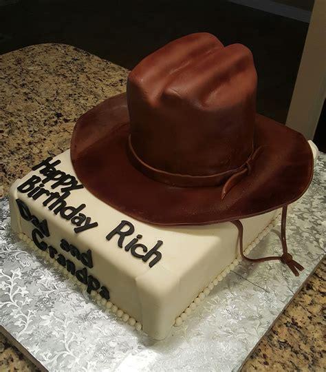 cowboy hat birthday cake cakecentralcom