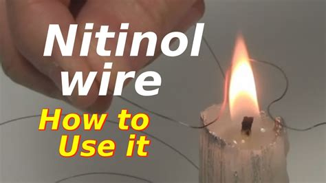 How To by Nitinol Wire Shape Memory Alloy How To Use It